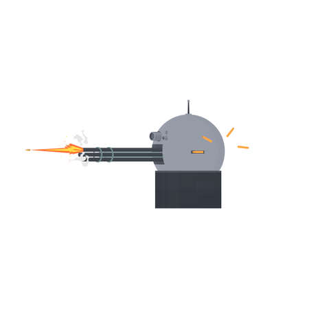 Weapon. Robotic weapon system, vector illustration