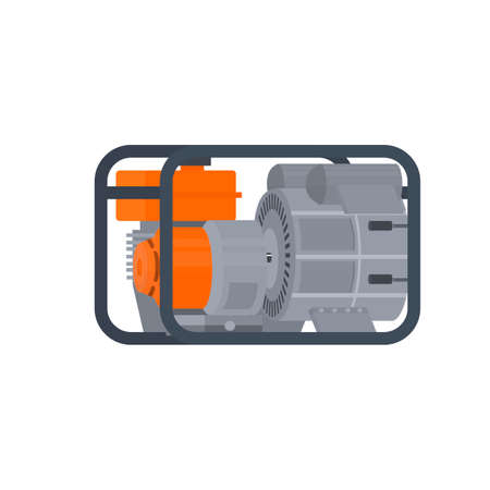 Generator. Power generator, vector illustration Vettoriali