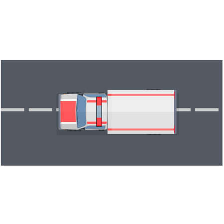 Ambulance car eats on the road, vector illustration