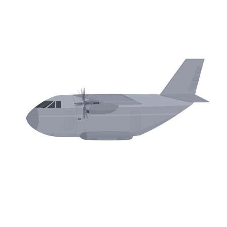 Transport plane. Cargo plane, vector illustration