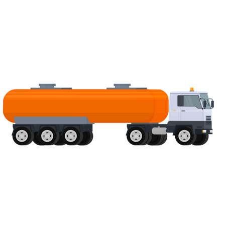 Fuel truck. Tanker truck, vector illustration