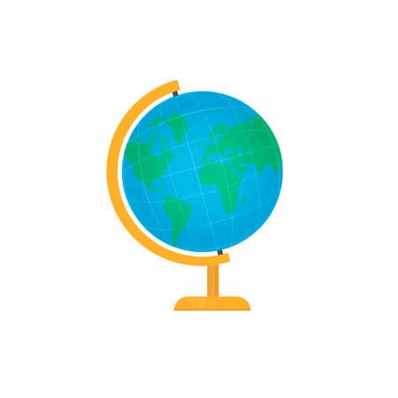 Globe. Rotation of the globe, vector illustration