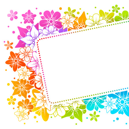 Floral colorful background  Vector