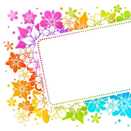 Floral colorful background  Illustration