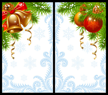 Christmas and New Year greeting card Stock Vector - 8046279