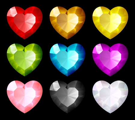 jewel set. Hearts Stock Vector - 8046273