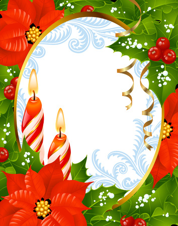 Christmas and New Year greeting card Stock Vector - 8067318