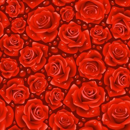 Red Rose nahtlosen Hintergrund Vektorgrafik