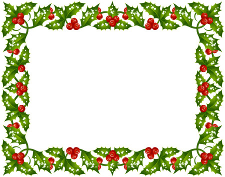 Holly frame Stock Vector - 8140914