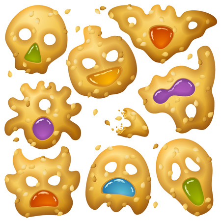 Halloween Food 2. Creepy Treats and Tasty Eats Vector