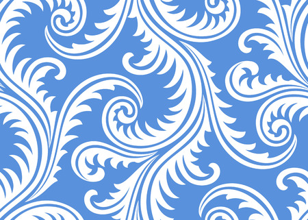 continue: Frost on window seamless pattern