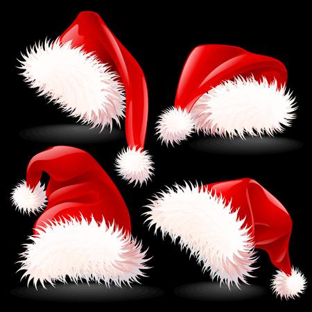 Vier Santa hoeden