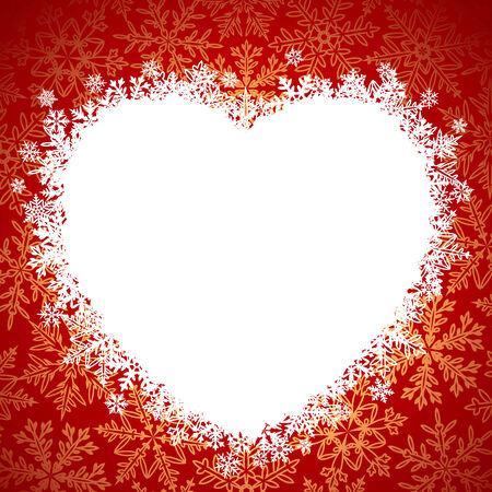 dessin coeur: Cadre de neige en forme de c?ur