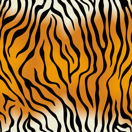Seamless texture of tiger skin Vector