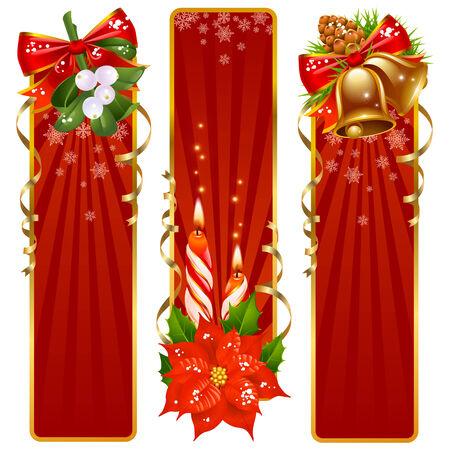 Christmas background set Vector