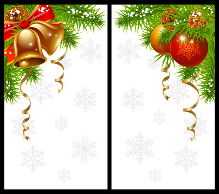 pinecone: Christmas greeting cards Illustration