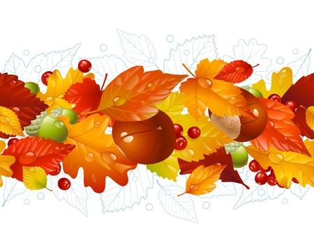 autumn leaf frame: Segundo plano horizontal transparente oto�al Vectores