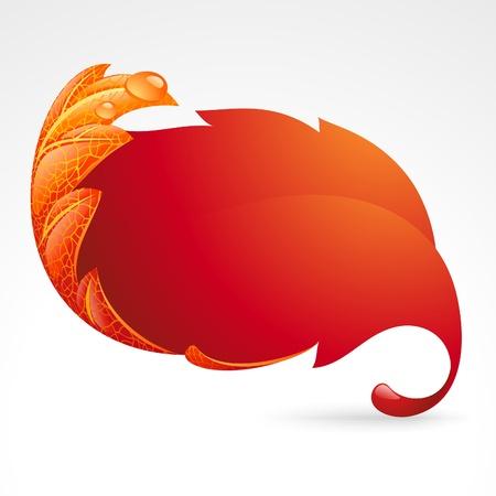 Marco otoñal en forma de hojas caídas 2 Ilustración de vector