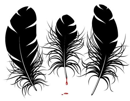 a poet: pluma de la silueta