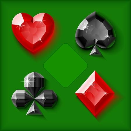 Vector jewel card symbols Vector