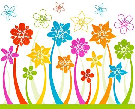 Floral horizontale nahtlose Hintergrund Vektorgrafik