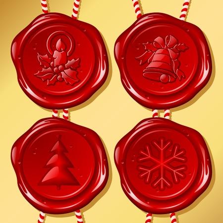 Set di Natale ceralacca