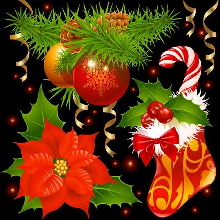 xmas decoration: Christmas decoration set 4