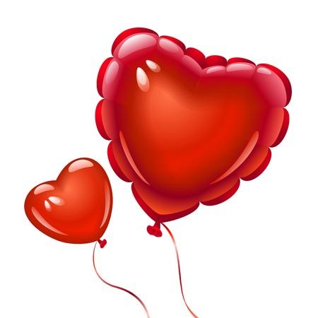 heart balloon: Balloons in the shape of heart Illustration