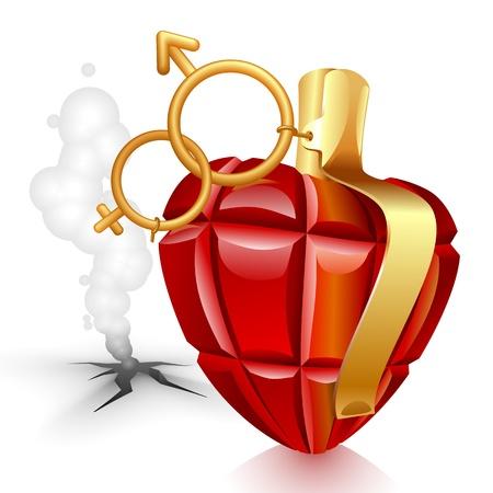 Grenade hart. Vrouwelijke verloren
