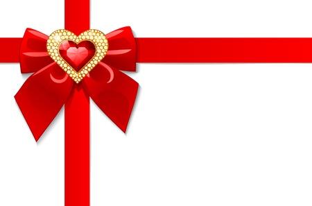 glitter heart: valentines day card