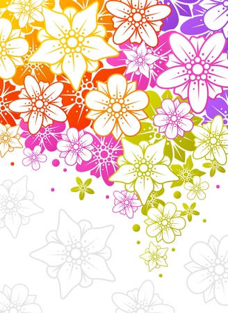 Floral colorful background 12 Vector