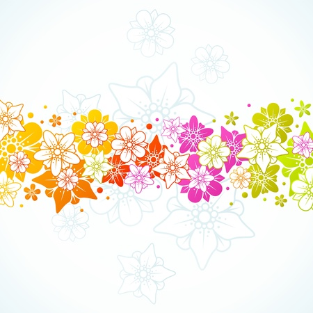 Floral colorful background 14 Vector