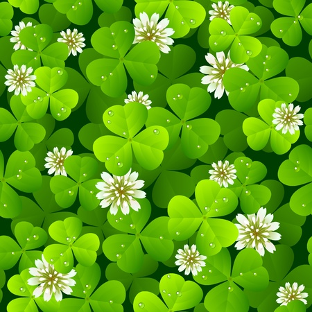 irish symbols: Clover background