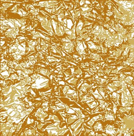 goldfolie: Blattgold Textur Illustration