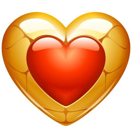 gold heart: Golden heart