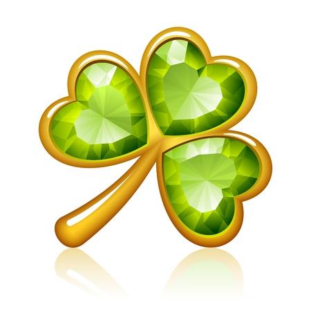 three leaf clover: Jewelry shamrock