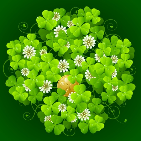 Clover glade in the shape of quatrefoil Illustration