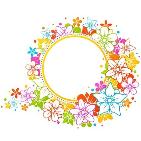 Floral colorful frame