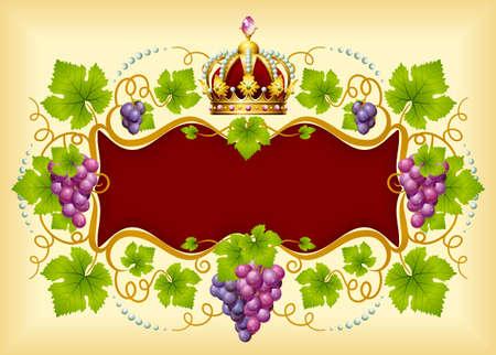 black grape: Grape frame with crown