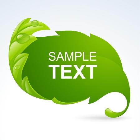 conserve: Vecteur vert feuille cadre, fond de printemps Illustration