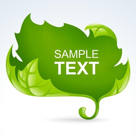 elm: Vector green leaf frame, spring background