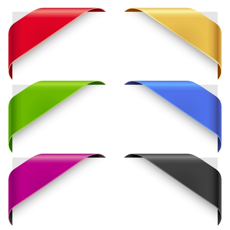 wraps: Vector cintas de la esquina listo para una nueva venta, y se agotaron los elementos