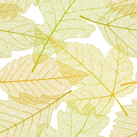 autumn leaves falling: Seamless autumn leaves pattern Illustration