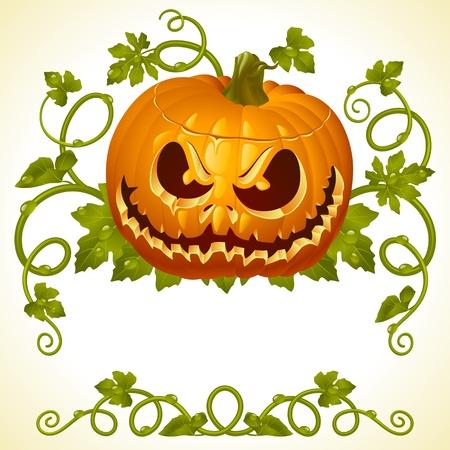 halloween greetings: Pumpkin Jack vintage pattern
