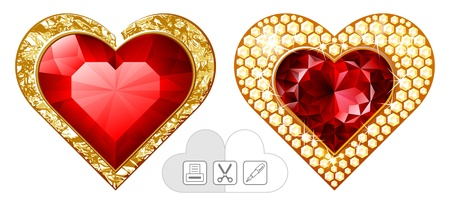 heart  jewelry Stock Vector - 15178581