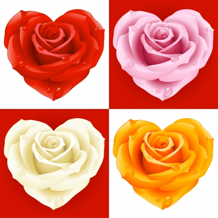 Roses in the shape of heart