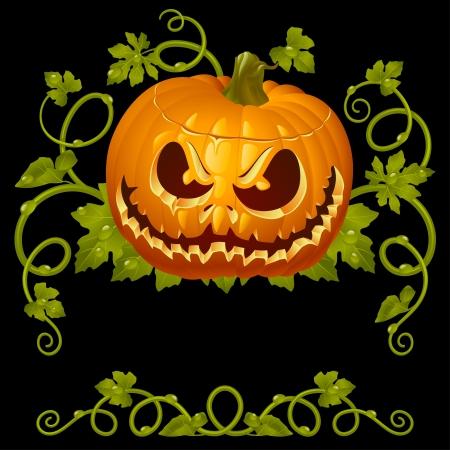 scary pumpkin: Pumpkin Jack vintage pattern