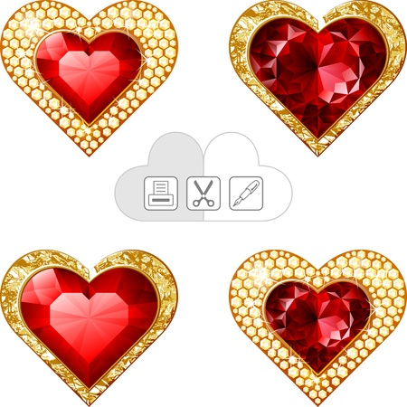 valentine s hearts jewelry