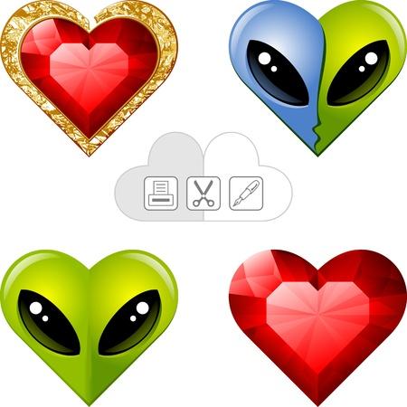 valentine s hearts Stock Vector - 16527052