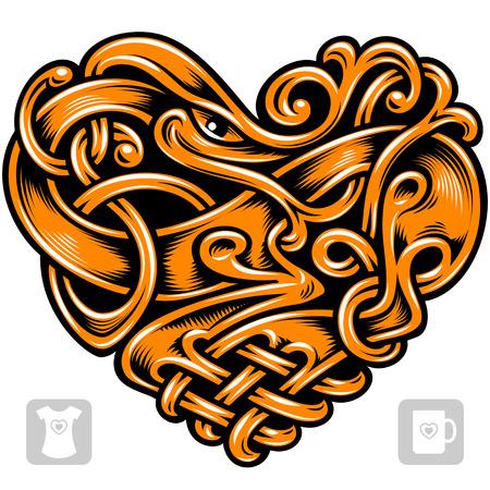 celtic: Vector celtic pattern in the shape of heart